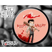 "Badge Flander's Company ""KEEP ANGRY"""